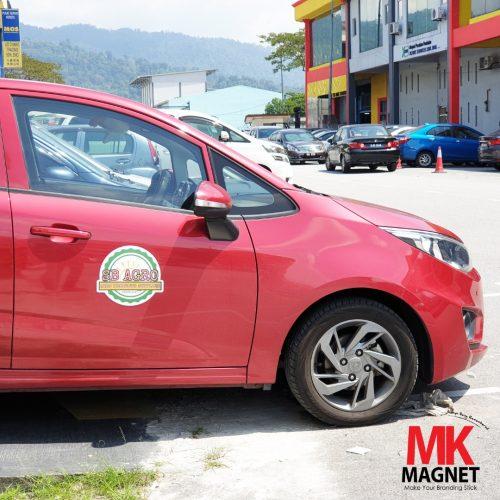 MK Car Door Magnet Sticker Shape